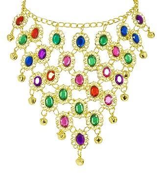 1a98bda2701c Andrea Moden Colorido Collar de Joyas de Oriente Bollywood para ...