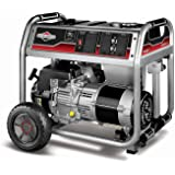 Briggs & Stratton 30468 5500-Watt Gas Powered Portable Generator with 1650 Series 342cc Engine and Power Surge Alternator, Engine Oil Included