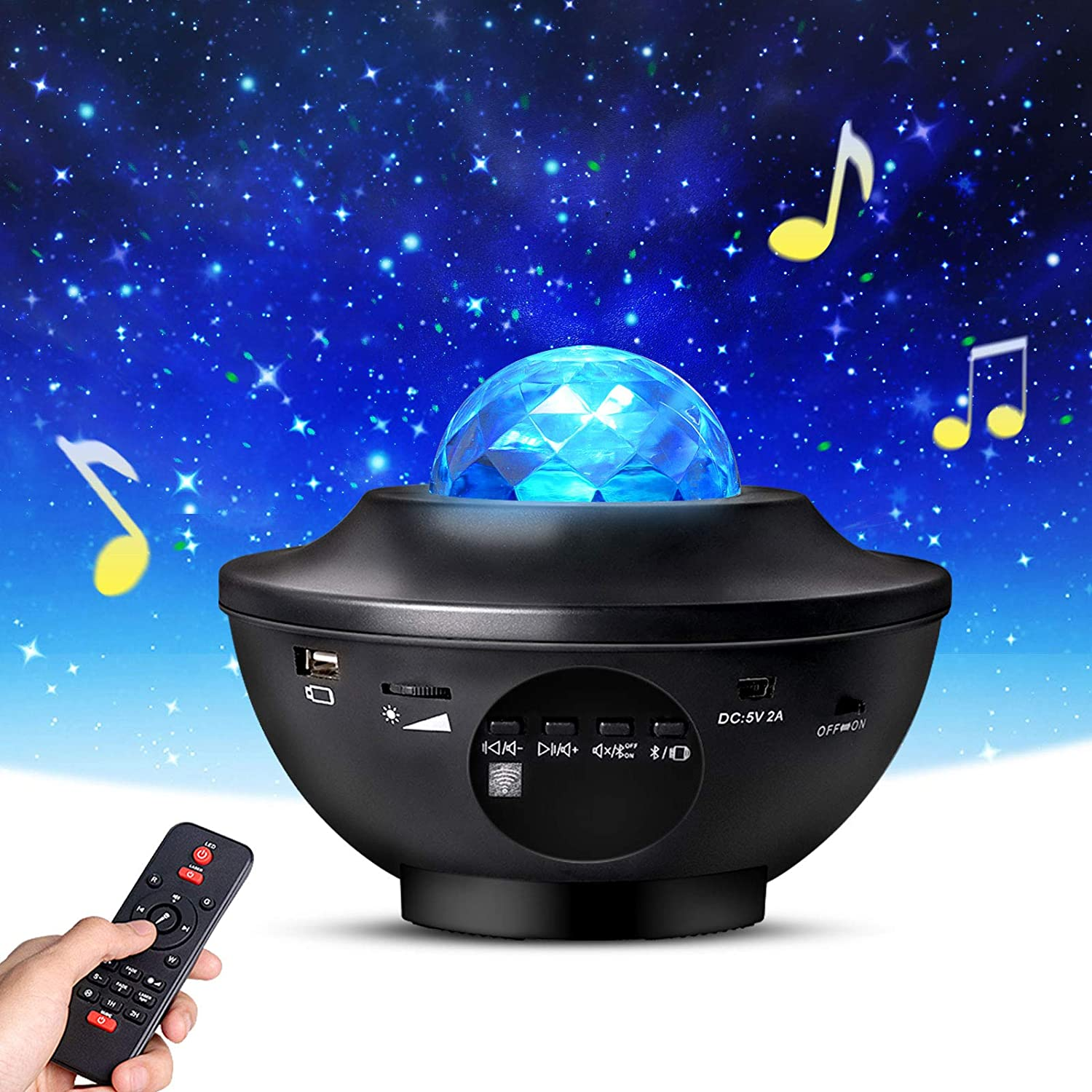 4 in 1 LED Sky Projector with 13 Lighting/Effects Voice/&Touch Control Adjustable Base Star Projector Unique Sky Star Lite Light,/Galaxy Night Light Projector for Baby Adults Home 4H Auto-Off