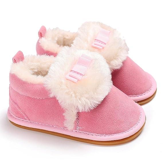 YanHoo Zapatos de algodón de bebé Zapatos de otoño e Invierno Mocasines de Felpa Suela Blanda Antideslizante cálido Terciopelo Nieve Zapatos para niños ...