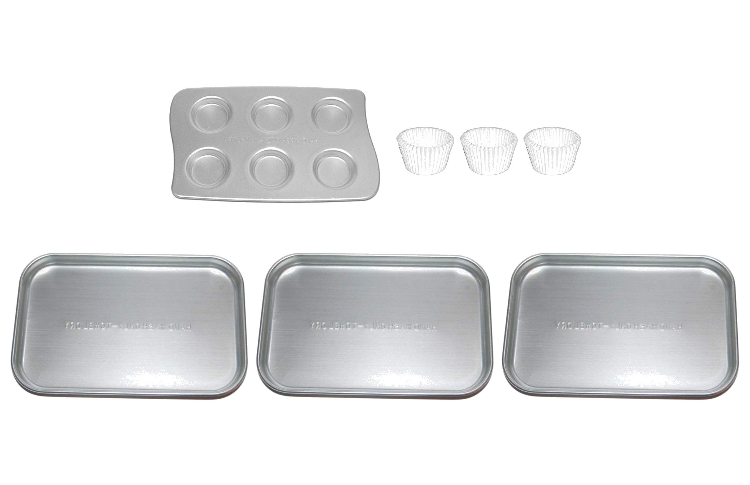 Easy Bake Ultimate Oven 3 Rectangular Replacement Pans Bundled with 1 Cupcake Pan Including 36 Bonus Cupcake Liners - by Easy Bake Oven