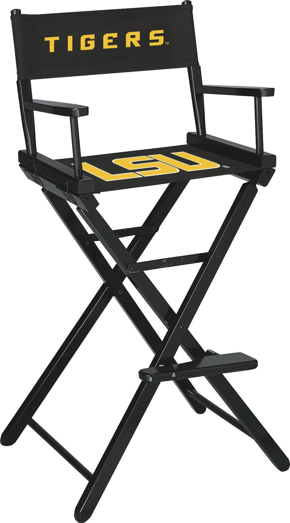 Imperial Officially Licensed NCAA Merchandise: Directors Chair (Tall, Bar Height), LSU Tigers