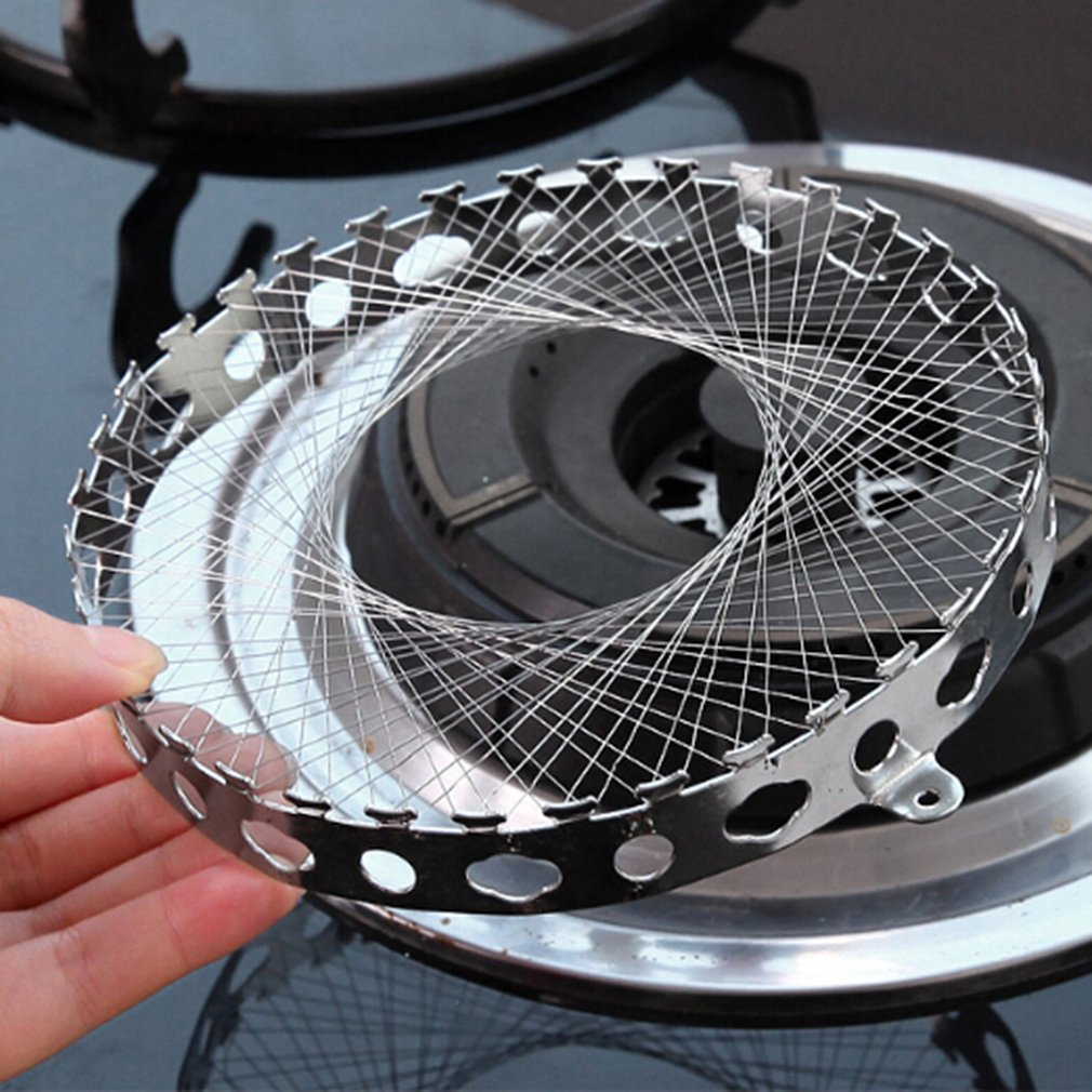 SOURBAN Round Windproof Energy-Saving Cover Net Stainless Steel Gas Cooking Tools