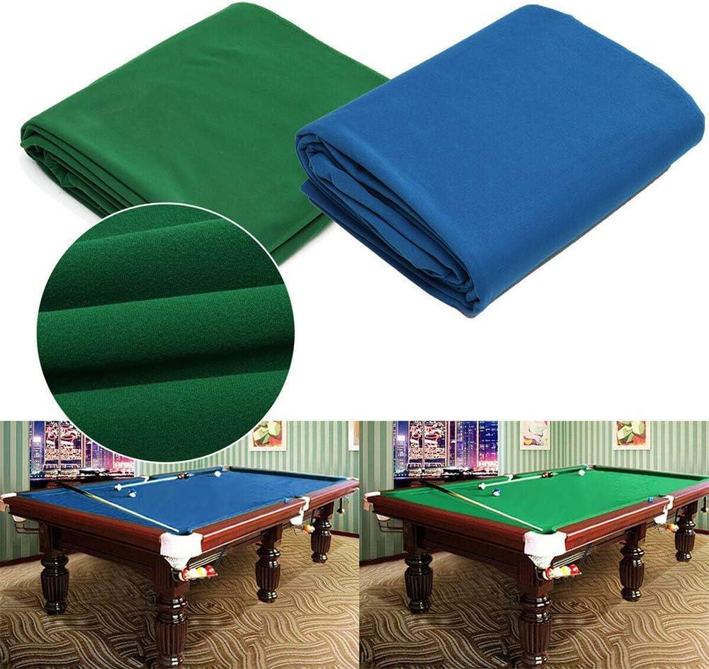 Pool Tischdecke Blau Free Size Kammgarn Billiard Pool Acht Ball Tischdecke Filz f/ür 7ft 8ft Pool Tisch