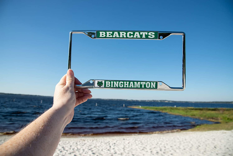 Desert Cactus Binghamton University Bearcats NCAA Metal License Plate Frame for Front Back of Car Officially Licensed Mascot