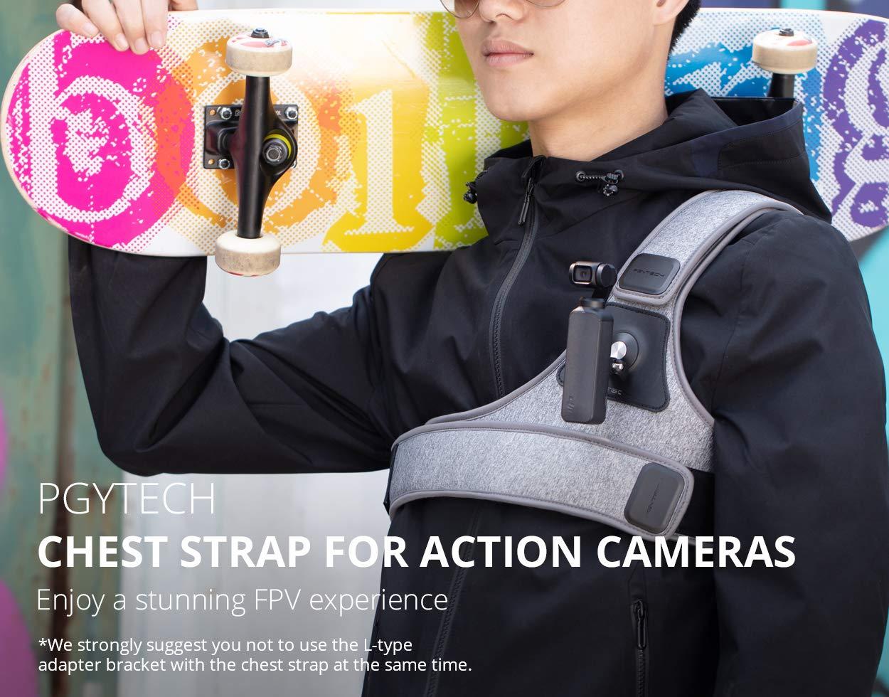 Leoie PGYTECH Chest Strap for DJI Osmo Pocket Gopro Hero 7 6 Xiaomi yi 4K Action Camera Chest Mount Harness for Insta360 SJCAM SJ4000 by Leoie
