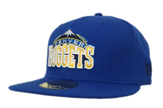 size 40 a5942 87896 Image Unavailable. Image not available for. Color  Mens Denver Nuggets New  Era Blue Current Logo 59FIFTY Fitted Hat ...