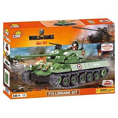 COBI 3025 World of Tanks-F19 Tank Wargaming F19 Lorraine 40T Construction Toy, Various: Toys & Games