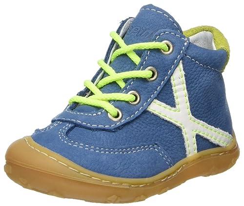 Ricosta Pamy, Zapatos de Cordones Oxford Unisex Niños, Azul (Jeans 155), 23 EU