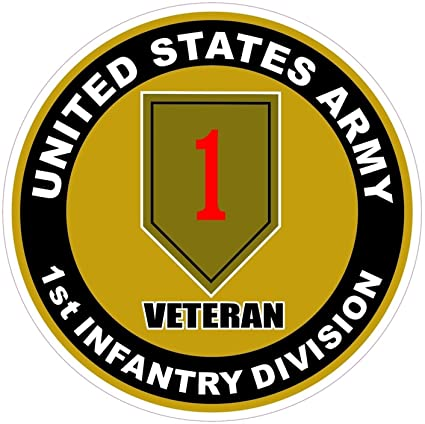 Army 1st Infantry Division Wall Window Vinyl Decal Sticker Military U.S