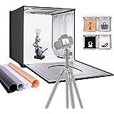 "Neewer Photo Studio Light Box, 16"" × 16"" Shooting Light Tent with Adjustable Brightness, Foldable and Portable Tabletop Photo"
