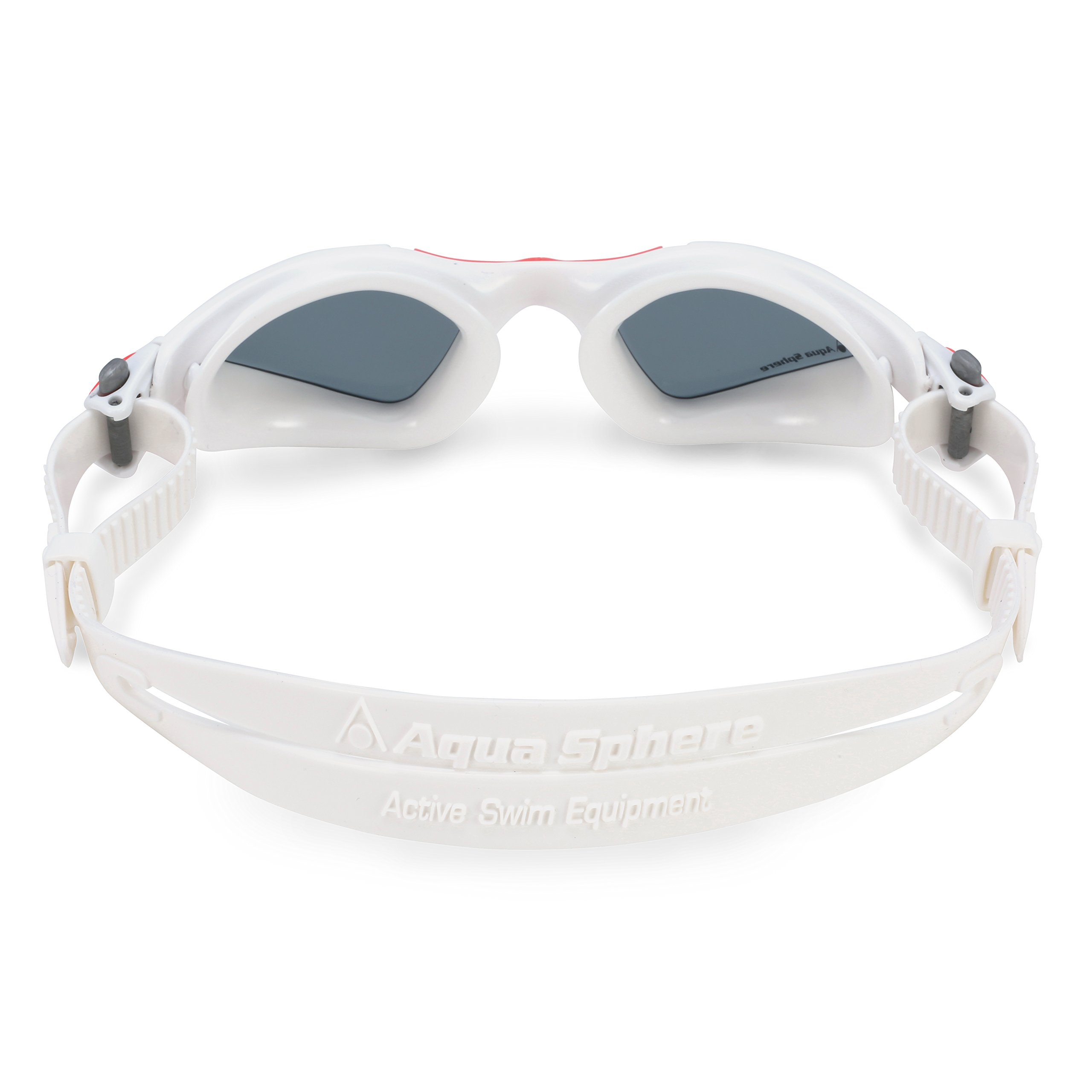 Aqua Sphere Kayenne Ladies Swimming Goggles Smoke Lens, White & Coral UV Protection Anti Fog Swim Goggles for Women by Aqua Sphere (Image #2)