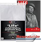 """BCW-MAG-L-R - Resealable Oversize """"Life"""" Magazine Sleeves - 11.25"""" x 14.25"""" With Flap - Clear - (25 Sleeves)"""