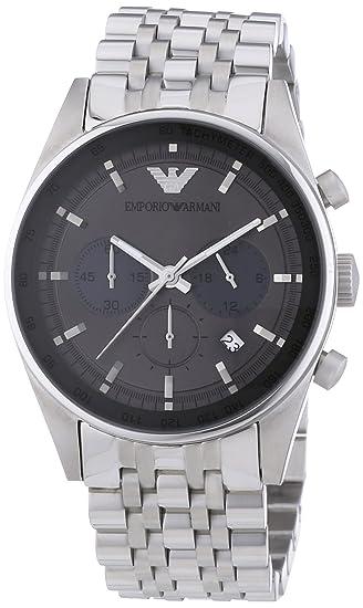 Emporio Armani AR5997 - Reloj de cuarzo para hombre, con correa de acero inoxidable,