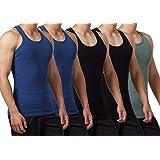 FALARY Camiseta de Tirantes para Hombre Pack de 5 de Algodón 100% más Colores