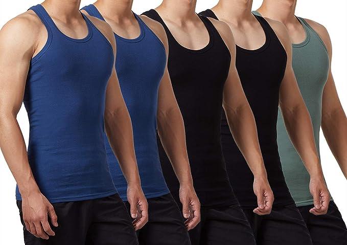 FALARY Camiseta de Tirantes para Hombre Pack de 5 de Algodón 100% más Colores: Amazon.es: Ropa y accesorios