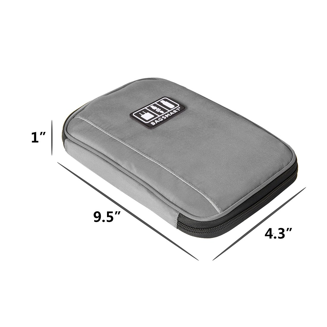 BAGSMART Travel Universal Cable Organizer Electronics Accessories Cases For Various USB, Phone, Charger and Cable, Grey by BAGSMART (Image #5)