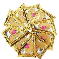 30 pairs of 24K Gold Powder Crystal Gel Collagen Eye Masks | For Anti-Aging & Moisturizing...