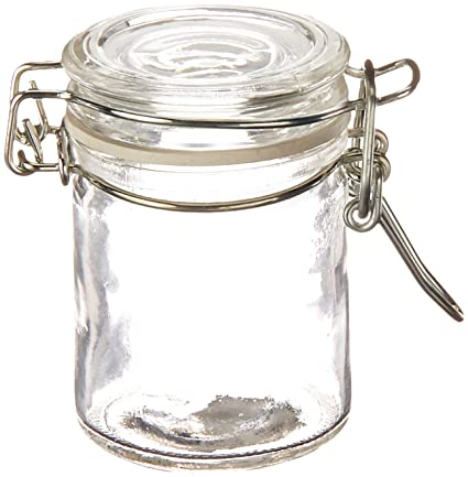 697218c836bc Amazon.com: Mini Glass Bottle with Wire Snap: Home & Kitchen