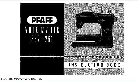 Descargar Pdf-File Pfaff modelo automático 362-261 libro de ...