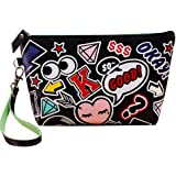 Yonger Cute Waterproof Cosmetic Pouch Travel Case Make up Bag for Women Girl Accessory Organizer with Strap