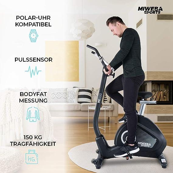 Miweba Sports Ergometer ME400 - Bicicleta estática de Cardio ...