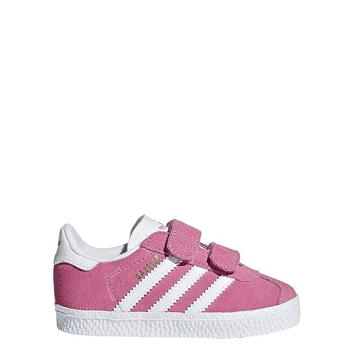 adidas Gazelle Sneakers Babyschuhe Unisex rosa (pink) mit weißen Streifen
