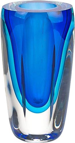 Badash Azure Murano-Style Art Glass Vase