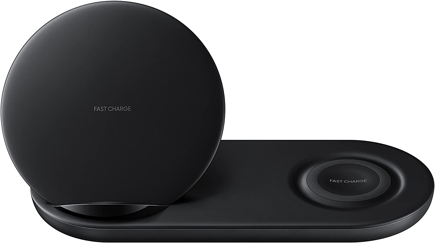 Samsung Wireless Charger DUO, Fast Charge Stand & Pad, Universally Compatible with Qi Enabled Phones and Select Watches (US Version), Black