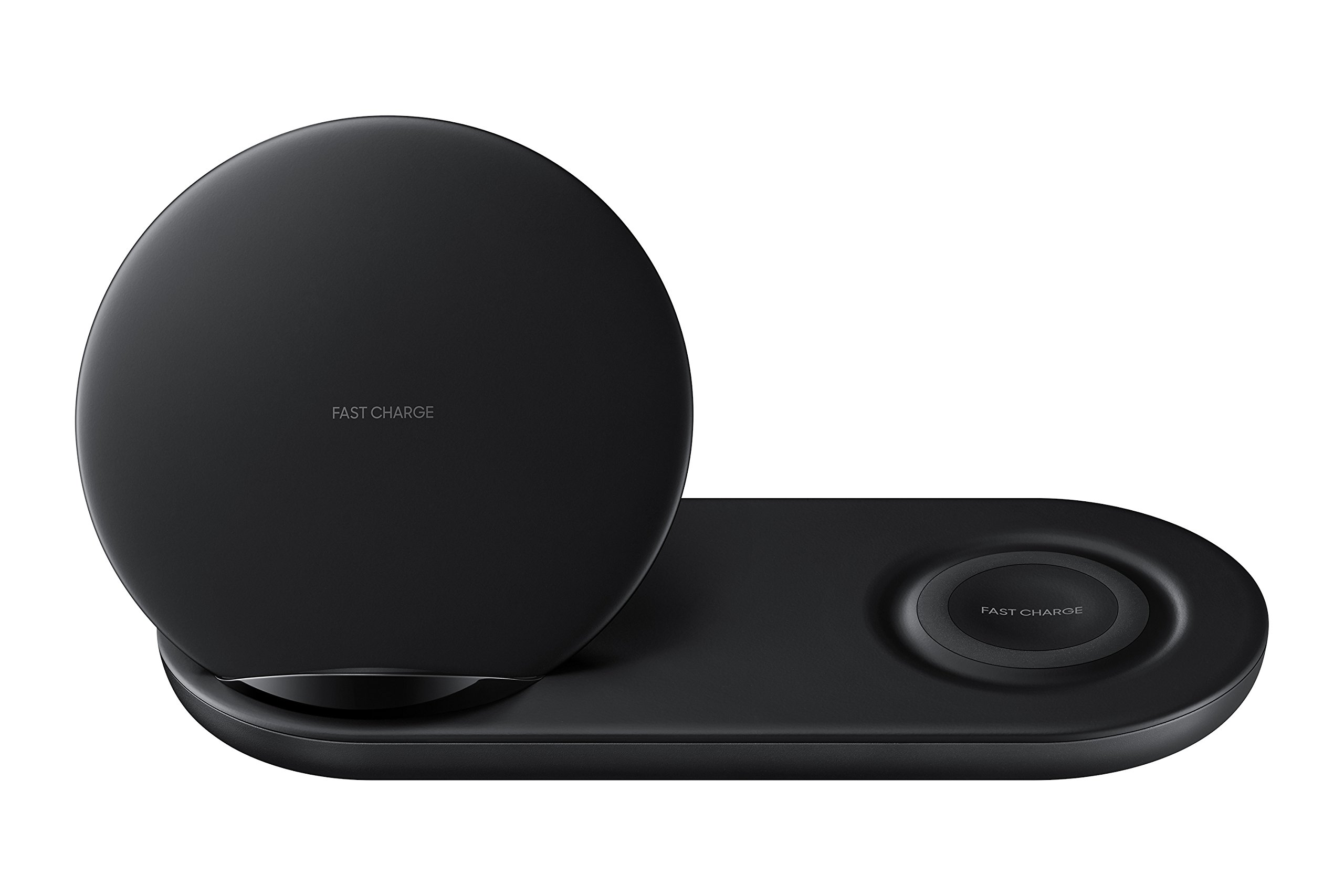 Samsung Wireless Charger Duo Fast Charge Stand & Pad Universally Compatible with Qi Enabled Phones and Select Samsung Watches (US Version), Black by Samsung