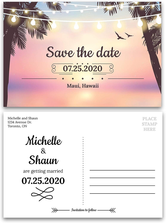 Destination Save the Date Tropical Wedding Save the Date Save the Date Postcard Hawaiian Wedding Save the Date Printable or Printed