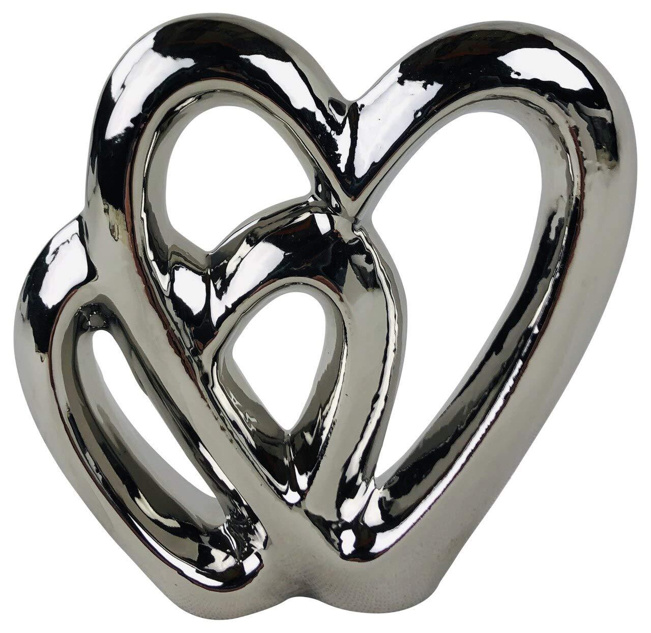 SIL Interiors Silver Double Heart Ornament
