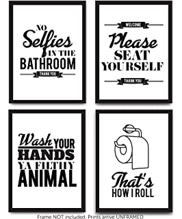 6be6109da55 Typography Bathroom Wall Art   Pictures