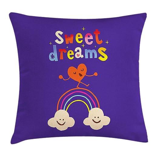 VICKKY Sweet Dreams - Funda de cojín, diseño de corazón ...