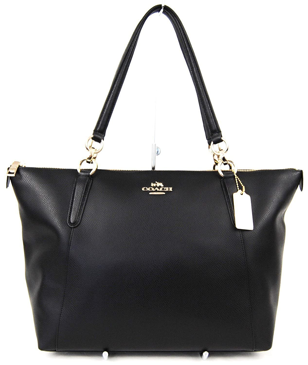 d80ba79a72b4 Amazon.com  AVA Tote in Crossgrain Leather in Black  350.00  Shoes