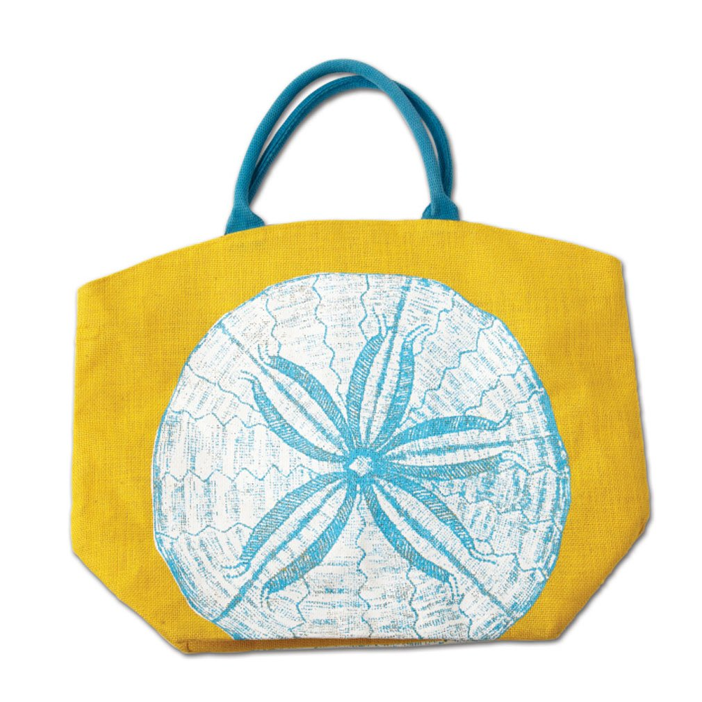 Amazon.com: Two's Company Colorful Reef Burlap Jute Tote Beach Bag ...
