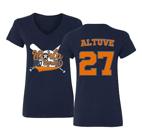 half off a42f8 c85df KINGS SPORTS Altuve Houston World 2017 Women's V-Neck T-Shirt