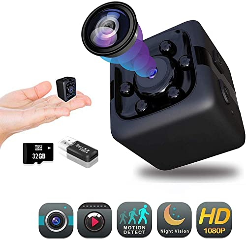 Hidden Camera 1080P Spy Camera Premium Pack Mini Spy Camera Hidden Nanny Cameras Hidden Spy Camera Hidden Cam Security Camera Full HD