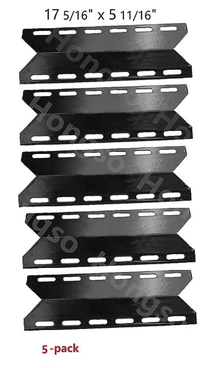 Hongso PPB341 (5-pack) BBQ Gas Grill Porcelain Steel Heat Plates Heat  sc 1 st  Amazon.com & Amazon.com : Hongso PPB341 (5-pack) BBQ Gas Grill Porcelain Steel ...