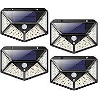 Luces solares de jardín al aire libre, 100 luces solares LED para jardín al aire libre, luces de seguridad con sensor de…