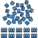 KeeYees 60pcs 5mm Pitch 2 Pin & 3 Pin PCB Mount Screw Terminal Block Connector for Arduino (50 x 2 Pin, 10 x 3 Pin)