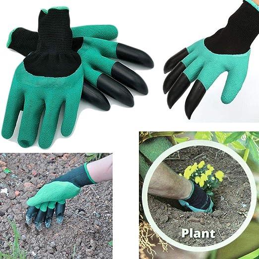 Guantes de jardín para jardinería Genie GLOVES con artículos para uñas y ganchos: Amazon.es: Jardín