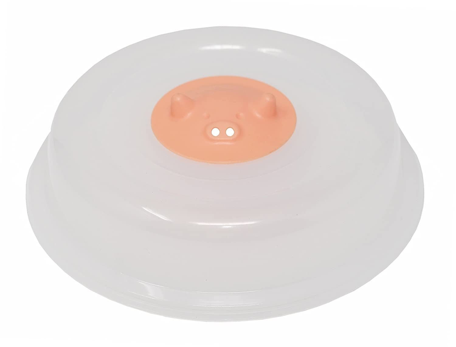"Home-X Miss Pinky Peggy Vented Microwave Cover, The Perfect Addition to Any Kitchen, (2.5"" H x 10.25"" Dia.)"