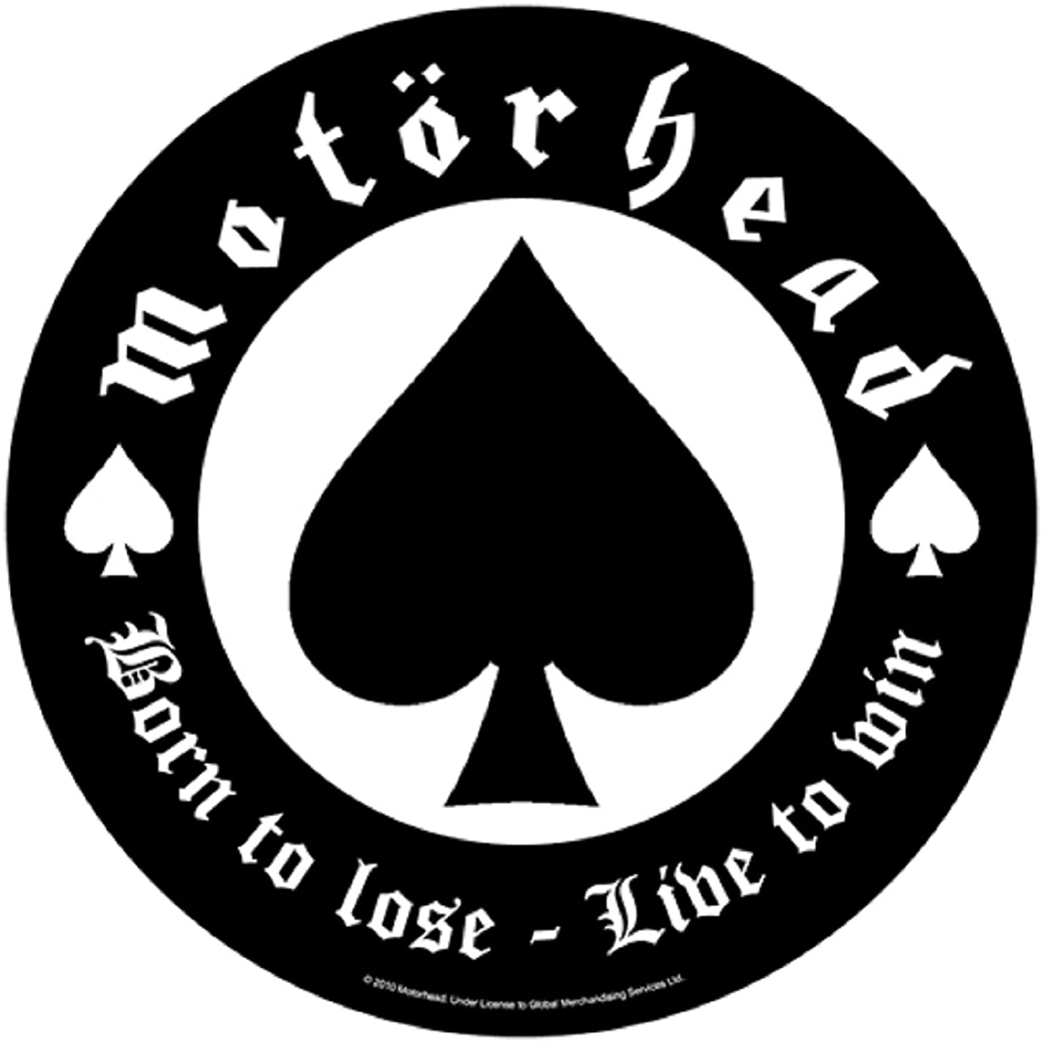Motorhead Born to Lose Live to Win New Official Circular Back Patch 28cm Officially Liscenced Product