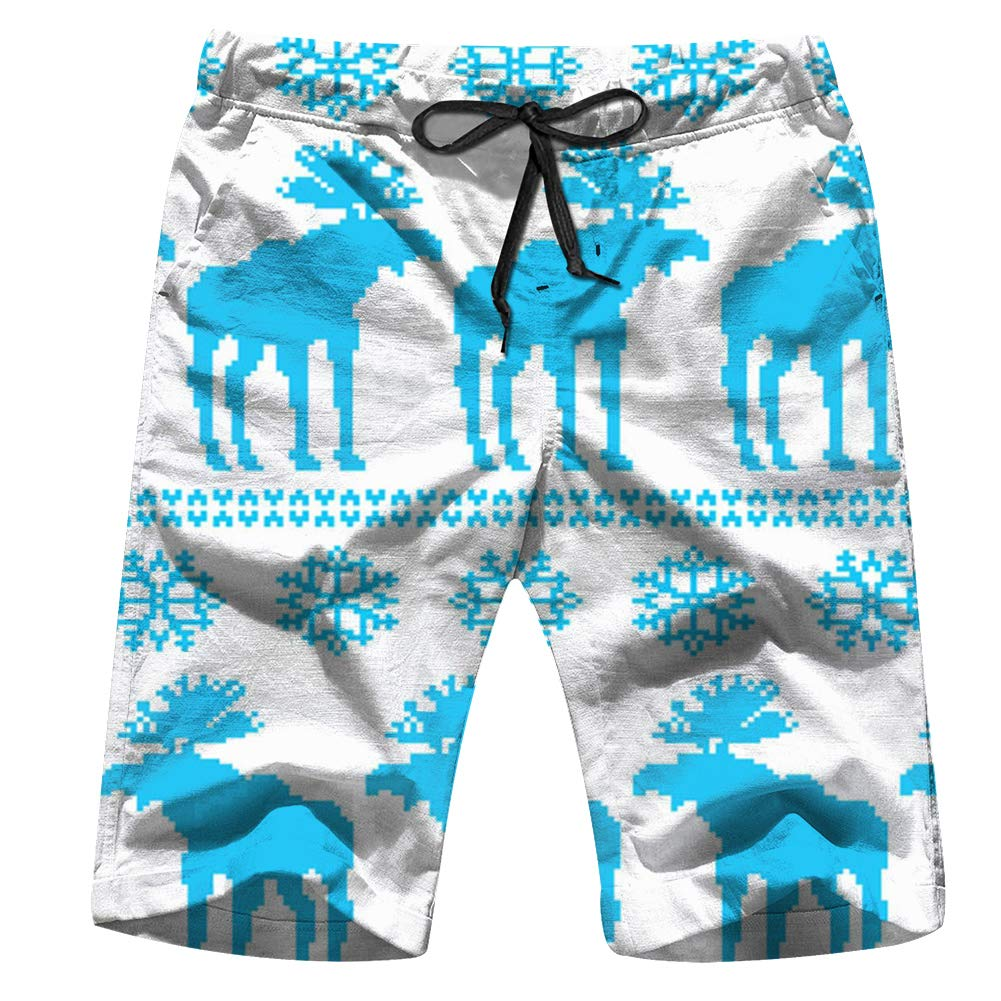 Mens Cool Cat with Glasses and Scarf Shorts Lightweight Swim Trunks Beach Shorts,Boardshort