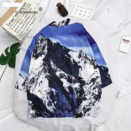 HNBY Camisa Japonesa Kimono Cosplay Traje Tradicional Coat Asia Japón Kimono Yukata Cardigan Mujer Harajuku Ocasionales De La Playa De La Blusa De Las Tapas (Color : Beige, Size : XL): Amazon.es: