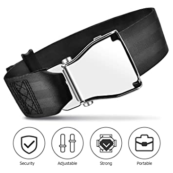 Compatible with All Major Airlines Except Southwest Airplane Seat Belt Extender 7-35 inch Adjustable Portable Grey Airline Belt Extender FAA /& E4 Certified
