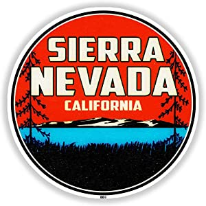 "Sierra Nevada Mountains California Sticker 3"" Decal Bumper Laptop Vinyl Car Van Truck"