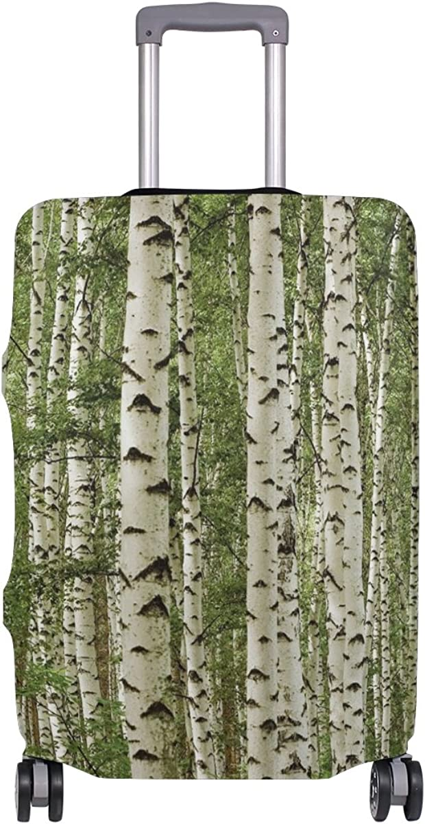 Abbylife Birch Tree Luggage Cover Suitcase Protector Fits 18-20//22-24 Inch