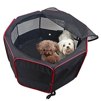 Petsfit 36u0026quot;Dia X 21Hu0026quot; Zipper Sealed Bottom Dog Playpen, Portable  And Foldable